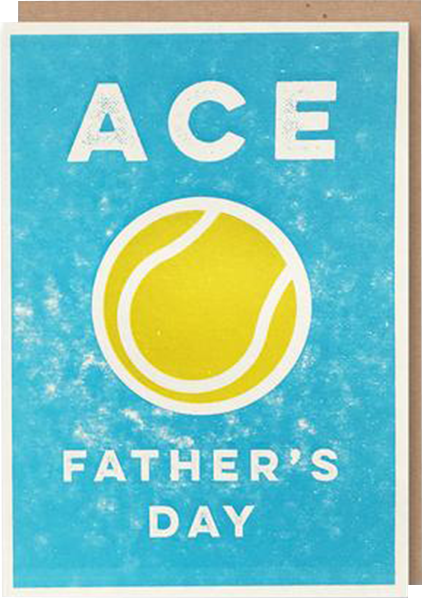 Malarkey Cards Brighton sell funky quirky unusual modern cool card cards greetings greeting original classic wacky contemporary art photographic birthday fun vintage retro 1973 father's day dad daddy father ace tennis