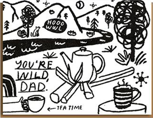 Malarkey Cards Brighton sell funky quirky unusual modern cool card cards greetings greeting original classic wacky contemporary art photographic birthday fun vintage retro 1973 people I've loved dad you're wild fathers day dad daddy father camping