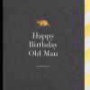 Malarkey Cards Brighton sell funky quirky unusual modern cool card cards greetings greeting original classic wacky contemporary art photographic birthday fun vintage Lagom Design happy birthday old man dinosaur postco 6100