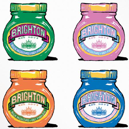 Malarkey Cards Brighton sell funky quirky unusual modern cool original classic wacky contemporary art illustration photographic distinctive vintage retro funny rude humorous birthday Brighton and Hove J David Bennett marmite JDB-17-BTNP-02