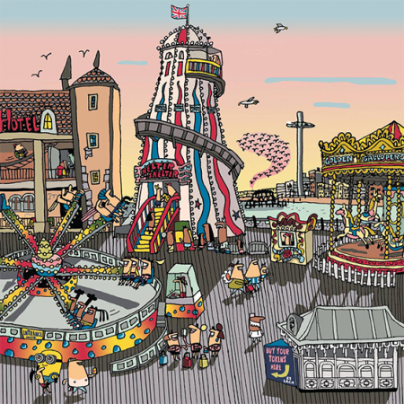 Malarkey Cards Brighton sell funky quirky unusual modern cool card cards greetings greeting original classic wacky contemporary art photographic birthday fun vintage retro lisa holdcroft halter skelter pier