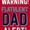 Malarkey Cards Brighton sell funky quirky unusual modern cool card cards greetings greeting original classic wacky contemporary art photographic birthday fun vintage retro father's day dad daddy father dean morris warning flatulent dad alert farting