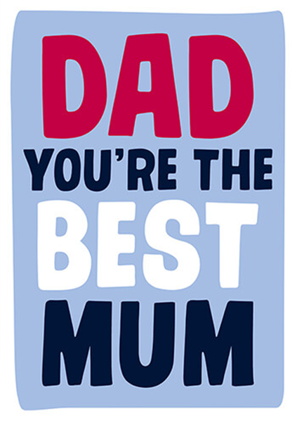 Malarkey Cards Brighton sell funky quirky unusual modern cool card cards greetings greeting original classic wacky contemporary art photographic birthday fun vintage retro father's day dad daddy father dean morris you're the best mum