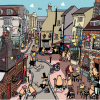 Malarkey Cards Brighton sell funky quirky unusual modern cool original classic wacky contemporary art illustration photographic distinctive vintage retro funny rude humorous birthday Lisa Holdcroft cartoon local lanes