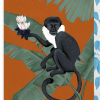 Malarkey Cards Brighton sell funky quirky kitsch unusual modern cool original classic wacky contemporary art illustration photographic distinctive vintage retro funny rude humorous birthday seasonal greetings cards lagom anna glover monkey with ixia