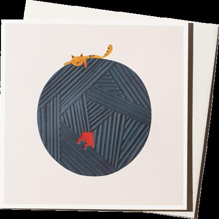 Malarkey Cards Brighton sell funky quirky kitsch unusual modern cool original classic wacky contemporary art illustration photographic distinctive vintage retro funny rude cute humorous birthday seasonal greetings cards ustudio blanca gomez ball wool cats