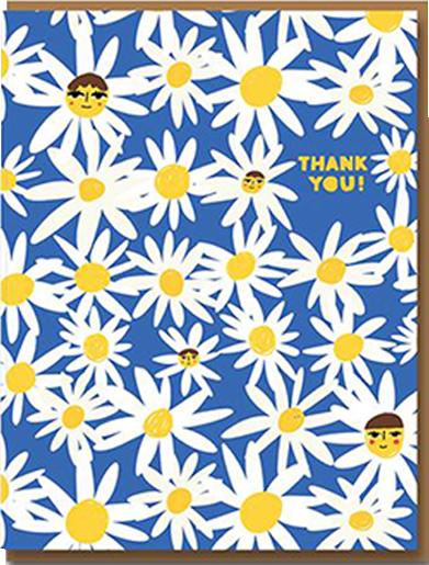 Malarkey Cards Brighton sell funky quirky kitsch unusual modern cool original classic wacky contemporary art illustration photographic distinctive vintage retro funny rude cute humorous birthday seasonal greetings cards 1973 Carolyn Suzuki daisy thank you flowers