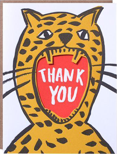 Malarkey Cards Brighton sell funky quirky kitsch unusual modern cool original classic wacky contemporary art illustration photographic distinctive vintage retro funny rude cute humorous birthday seasonal greetings cards 1973 nineteenseventythree egg press thank you roar tiger cheetah lion leopard