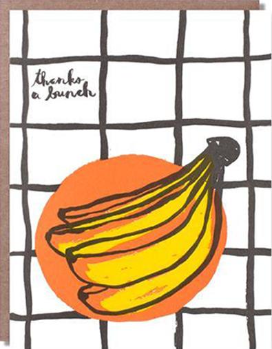 Malarkey Cards Brighton sell funky quirky kitsch unusual modern cool original classic wacky contemporary art illustration photographic distinctive vintage retro funny rude cute humorous birthday seasonal greetings cards 1973 nineteenseventythree egg press thanks a bunch banana