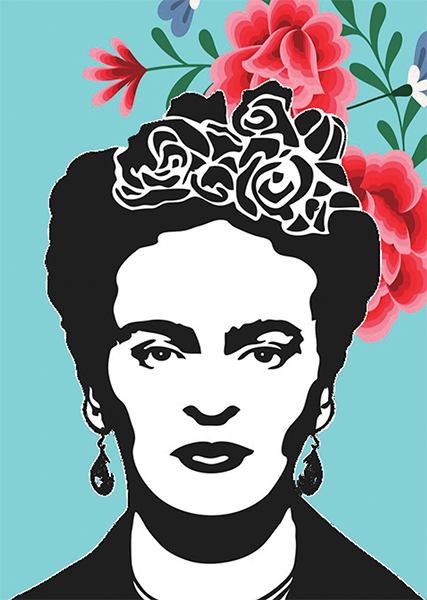 Malarkey Cards Brighton sell funky quirky unusual modern cool original classic wacky contemporary art illustration photographic distinctive vintage retro funny rude humorous birthday seasonal greetings cards bite your granny toy pincher Frida Kahlo