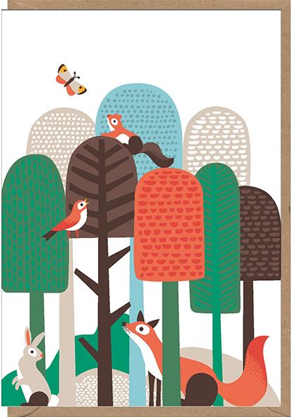 Malarkey Cards Brighton sell funky quirky unusual modern cool original classic wacky contemporary art illustration photographic distinctive vintage retro funny rude humorous birthday seasonal greetings cards early bird designs Nadia Taylor lollipop trees